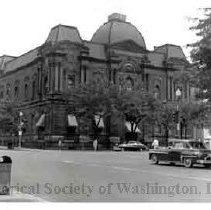 Image of WY 3122.45 - General view northeast down 17th Street NW from the 700 block. Old Corcoran Gallery of Art.
