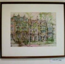 Image of 1999.077.058 - Massachusetts Avenue Rowhouses, 1700 Block