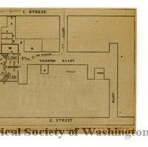 Image of KC0451.MP.NC.L.F. - Plat of John Wilkes Booth's Plan of Escape