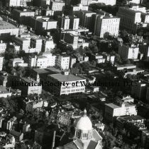 Image of AE 0110B - Aerial view southeast over Rhode Island Avenue and 17th Streets NW.