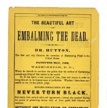 Image of E 0756 - Dr. Hutton, inventor of embalming fluid, ephemera