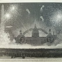 Image of 1991.081.14A - Washington, D.C.--The Inauguration of President Cleveland--Brilliant Display of Fireworks