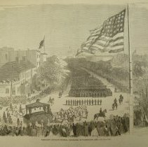 Image of 1991.124.10 - President Lincoln's Funeral Procession in Washington City