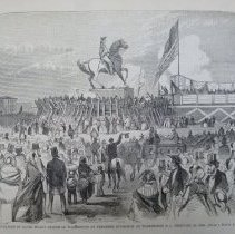 Image of 1991.124.32 - The Inauguration of Clark Mills's Statue of Washington, by President Buchanan, at Washington, D.C., February 22, 1860