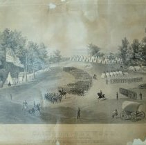 Image of CHS 11002 - Camp Brightwood.  Col. Henry S. Brigg's 10th Regt., Mass. Volunteers