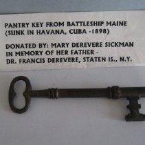 Image of Battleship Maine, pantry key