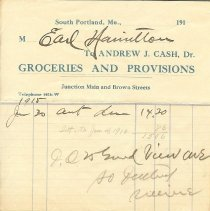 Image of Cash Grocer invoice