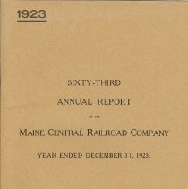 Image of Maine Central Railroad Company annual report