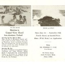 Image of Grand View Hotel brochure
