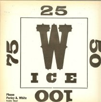 Image of Window card for ice delivery