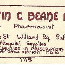 Image of Ad for Austin Beane pharmacy