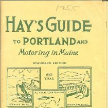 Image of Hay's Guide to Motoring in Maine- travel brochure