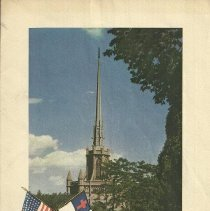 Image of Program - dedication of flags - 1943