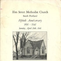 Image of Elm Street 50th anniversary program