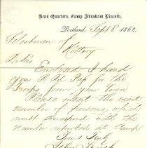 Image of John Lynch letter