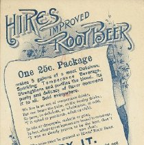 Image of Trade card, rear view, from Knapp Bros.