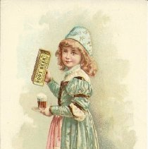 Image of Trade card for Hires Root Beer sold at Knapp Bros.
