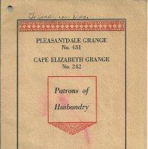 Image of Pleasantdale Grange - Program Committees booklet