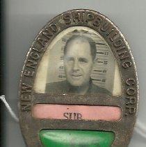 Image of Shipyard worker's ID badge