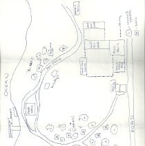 Image of T-Ledge Camp hand-drawn map