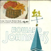 Image of Howard Johnson's menu