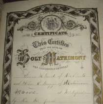 Image of Marriage certificate - Isaac Grant and Abbie Burgess