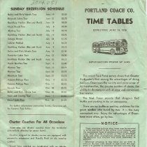 Image of Portland Coach time table