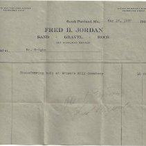 Image of Fred H. Jordan invoice