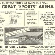 Image of Sports Arena advertisement, top half
