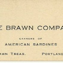 Image of Brawn Co. business card