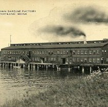 Image of E.W. Brown Sardine Factory postcard
