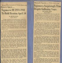 Image of Sagamores newspaper clippings 1965