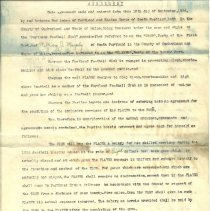 Image of Murphy football agreement 1934, page 1