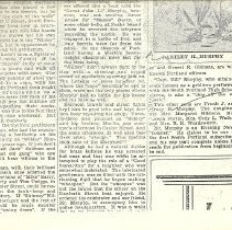 Image of Murphy article,  bottom of image 1, and end of article (right)