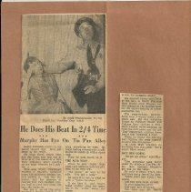 Image of Newspaper clipping about Murphy's song writing