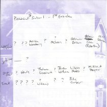 Image of Pleasant Street School, 1st grade, DiPhilippo notes on names