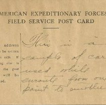 Image of Field Service post card, side 1