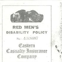 Image of Red Men's disability insurance policy