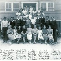 Image of Thornton Heights School Grade 8 1935, with names