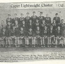 "Image of SPHS football ""Caper Lightweight Cluster"" 1935"