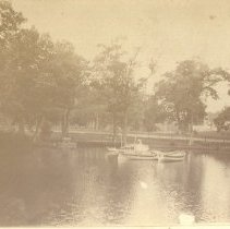 Image of Boats in pond at Deering Oaks Park