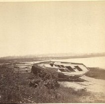 Image of Boat near south end of Portland Bridge 1890