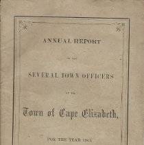 Image of 1863 Annual Report, Town of Cape Elizabeth