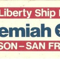 Image of SS Jeremiah O'Brien bumper sticker