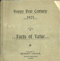 Image of Bethany Church booklet, 1901