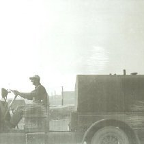 Image of Sprinkler truck in Ferry Village