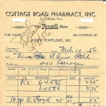 Image of Cottage Road Pharmacy receipt