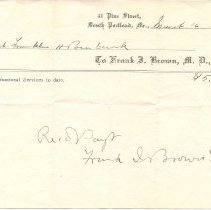Image of Frank I. Brown receipt