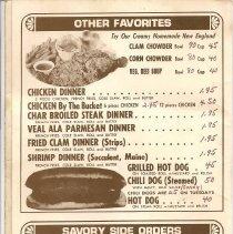 Image of A&W menu