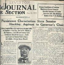 Image of Lewiston Journal clipping, 1928